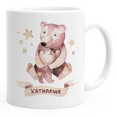 Kindertasse Kunststoff Bären personalisierte Namenstasse für Kinder Jungen Mädchen SpecialMe®