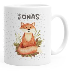 Namenstasse personalisierte Kaffee-Tasse mit Namen Fuchs persönliche Geschenke SpecialMe®