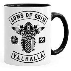 Kaffee-Tasse Sons of Odin Valhalla Vikings Wikinger Fan Geschenk Moonworks®