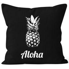Kissenbezug Kissen-Hülle Aloha Ananans Pineapple 40x40 Baumwolle Autiga®