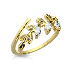 Fingerspitzenring Midi Knöchel Nagel Ring Zehenring Blatt Blätter Leaf Boho Bohemian Autiga®