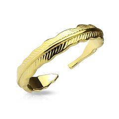 Fingerspitzenring Midi Knöchel Nagel Ring Zehenring Feder Feather Autiga®