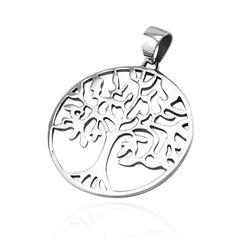 Anhänger Lebensbaum Edelstahl Halskette Lederkette Herren Damen Yggdrasil Keltisch Celtic