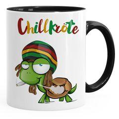 Kaffee-Tasse Chillkröte Schildkröte Rastafrisur Joint Comic Stil Kaffeetasse Fun-Tasse MoonWorks®