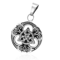 Anhänger Keltischer Knoten Triquetra Edelstahl Halskette Lederkette Herren Damen Dreiecksknoten Celtic