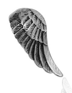 Anhänger Halskette Flügel Engelsflügel Edelstahl Herren Damen Kugelkette Lederkette Vintage Gothic