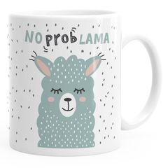 Kaffee-Tasse mit Spruch No Prob Lama Motiv lustig Bürotasse lustige Kaffeebecher MoonWorks®