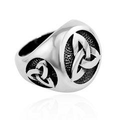 Freimaurer Ring Herren Edelstahl Keltischer Knoten Masonic Siegelring