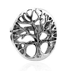 Ring Edelstahl Lebensbaum Herren Damen Yggdrasil Keltisch Celtic Tree of Life