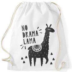 Turnbeutel mit Spruch No Drama Lama Motiv Llama Alpaka Moonworks®