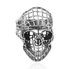 Totenkopf Ring Herren Edelstahl Biker Skull Hollow Gothic