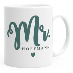personalisierte Kaffeetasse Tasse Mr & Mrs Nachname Namenstasse personalisierte Geschenke Hochzeitsgeschenk SpecialMe®