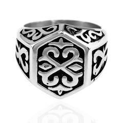 Ring Edelstahl Thors Hammer Wikinger Keltisch Herren Damen Celtic
