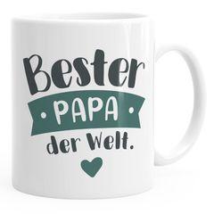 Kaffee-Tasse Beste/r Mama/Papa der Welt Geschenk Mütter Väter Geburtstag Weihnachten Danke sagen Moonworks®