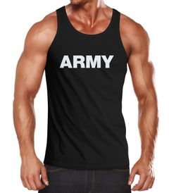 Herren Tank-Top Aufdruck Army Print Muskelshirt Muscle Shirt Neverless®