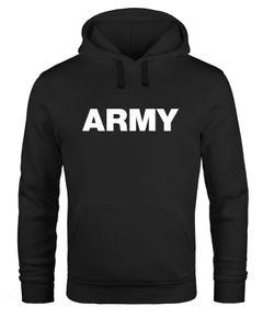 Hoodie Herren Army Aufdruck Print Kapuzen-Pullover Männer Neverless®