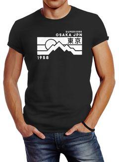 Herren T-Shirt Osaka Japan Superiors Mountain Retro Design Printshirt Neverless®