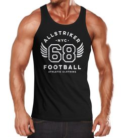 Herren Tank-Top College Design Schriftzug NYC 68 Football Athletic Clothing Vintage Muskelshirt Muscle Shirt Neverless®