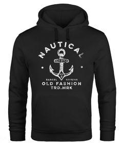 Hoodie Herren Anker Motiv Nautical Kapuzen-Pullover Männer Fashion Streetstyle Neverless®