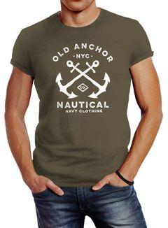 Herren T-Shirt gekreuzte Anker Old Anchor Nautical Neverless®