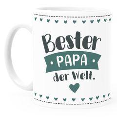 Kaffee-Tasse personalisierbar Beste/r Mama/Papa der Welt anpassbarer Name personalisierte Geschenke SpecialMe®