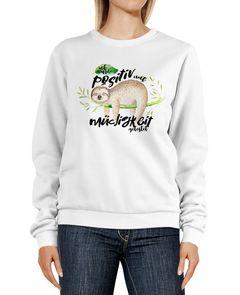 Sweatshirt Damen Faultier Ich wurde positiv auf Müdigkeit getestet Rundhals-Pullover Pulli Sweater Moonworks®
