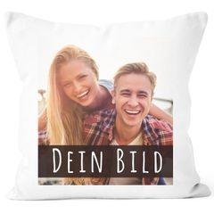 Fotokissen Kissen-Bezug mit Foto bedrucken lassen persönliche Geschenkideen personalisierbar Baumwolle SpecialMe®
