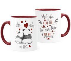 Kaffee-Tasse Panda Ich Deins Du Meins Wir Eins Liebes-Geschenk Liebesbeweis Geschenkidee Freund Freundin Moonworks®