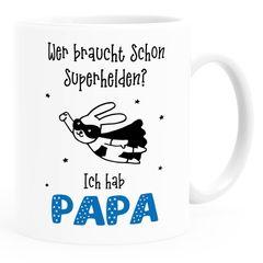 Kindertasse Kunststoff Wer braucht schon Superhelden ich hab Mama Papa Opa Oma personalisierte Tasse für Kinder Jungen Mädchen SpecialMe®