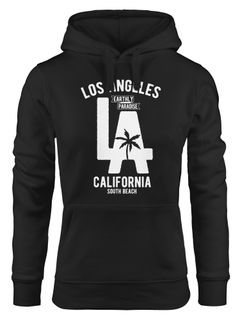 Hoodie Damen Los Angeles California LA Palme Sweatshirt Kapuze Hoody Neverless®