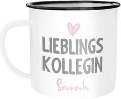 Emaille-Tasse Lieblings-{style_variation} mit Namen Becher Emaille personalisierte Geschenke Wunschname SpecialMe®