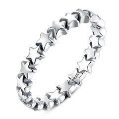 Damenring Stern Sterne Verlobungsring Bandring 925 Sterling Silber Autiga®