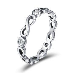 Damenring Infinity Unendlichlkeit Verlobungsring Bandring 925 Sterling Silber Zirkonia Kristalle Autiga®