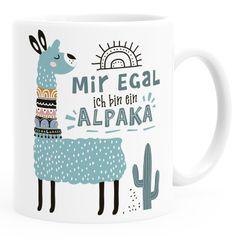 Kaffeetasse Spruch Mir egal ich bin ein Alpaka - Alpaka-Motiv Lama Geschenk Alpaka-Liebhaber Bürotasse SpecialMe®