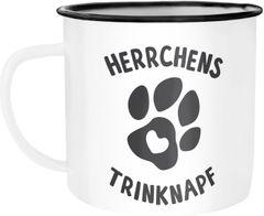 Kaffee-Tasse Spruch Herrchens Trinknapf Hundepfote-Motiv Becher Bürotasse Tasse Hundeliebhaber MoonWorks®
