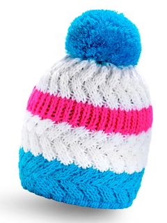 Strickmütze Wintermütze Pudelmütze Bommelmütze bunt Neon gestreift Neverless®