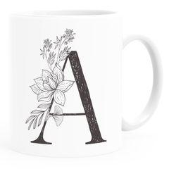 Kaffeetasse Monogramm Initiale Geschenk-Motiv Tasse personalisierte Namenstasse personalisierte Geschenke SpecialMe®