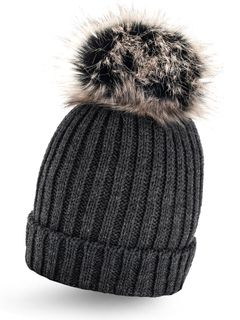 Strickmütze Wintermütze Pudelmütze Bommelmütze Pudelmütze einfarbig Neverless