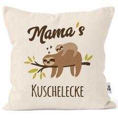 Kissen-Bezug eigener Name Mama´s / Papa´s / Oma´s / Opas´s / Kuschelecke Faultier personalisierbare MoonWorks®