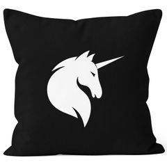 Kissenbezug Einhorn Unicorn Kissen-Hülle Deko-Kissen 40x40 Baumwolle MoonWorks®