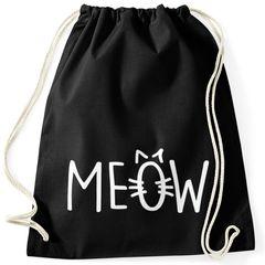 Turnbeutel Katze Meow Miau Cat Hipster Beutel Tasche Sportbeutel Gymsac Gymbag Moonworks®