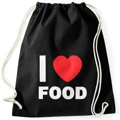 Turnbeutel I love food Hipster Beutel Tasche Sportbeutel Gymsac Gymbag Moonworks®