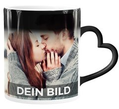 Zaubertasse Herzhenkel Farbwechsel Tasse mit eigenem Foto Geschenkideen Liebe personalisierte Geschenke SpecialMe®