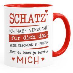 Kaffee-Tasse Schatz ich habe versucht für dich das beste Geschenk zu finden Geschenkidee Weihnachten Geburtstag Valentinstag Moonworks®