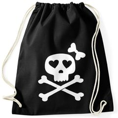 Turnbeutel Knochen Bones Totenkopf Pirat Hipster Beutel Tasche Sportbeutel Gymsac Gymbag Moonworks®