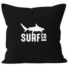 Kissenbezug Kissen-Hülle Deko-Kissen 40x40 Surf Co Hai Shark Baumwolle MoonWorks®