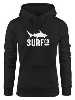 Hoodie Damen Surf Co Hai Shark Sweatshirt Kapuze Kapuzenpullover Moonworks®
