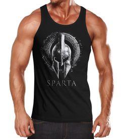 Herren Tank-Top Aufdruck Sparta Helmet Krieger Warrior Spartahelm Fitness Muskelshirt Muscle Shirt Neverless®