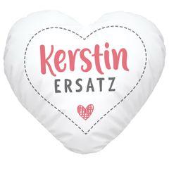 Herzkissen personalisiert Geschenk Liebe eigener Name Schatzersatz Herz SpecialMe®