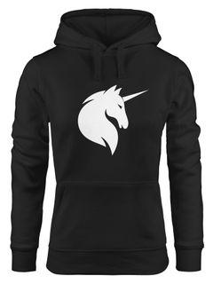 Hoodie Damen Einhorn Unicorn Sweatshirt Kapuze Kapuzenpullover Moonworks®